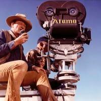 John Wayne_The Alamo_movie set_camera