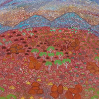 """Booker-Lowe Gallery presents """"The Call of Country"""": New Paintings by Australian Artists of Ampilatwatja"""