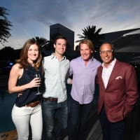 Four Seasons Spa opening, 4/16, Blair Beal, Josh Bell, George Lancaster, Mark Sullivan