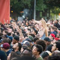 Kendrick Lamar March Madness Music Festival crowd