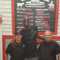 Kevin Garnett, Jackson Street BBQ, March 2016,Bryce Gilbert, Brandon Allen
