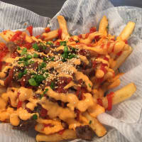 Hoodadak kimchi fries