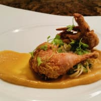 The Carillon chicken fried quail dish food Austin restaurant