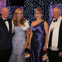 Winter Ball, Jan. 2016, Scotty Arnoldy, Jana Arnoldy, Susan Hansen, Dick Hansen