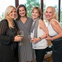 News, Shelby, Holiday Card kickoff, Oct. 2015,Terri Courtney, Erin McCarthy, Pam Jones, Lisa Miranda