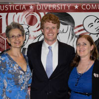 Barbra Radnofsky, Joe Kennedy III and Michelle P. Mullin at Texas Civil Rights Project fundraiser