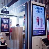 Houston, McDonald's Experience of the Future in Katy, June 2017, kiosks