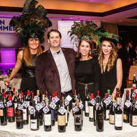 9 Sean Beck and Jillian Nel with the Iron Sommelier Wine Pull team at The Periwinkle Foundation's Iron Sommelier October 2014