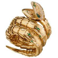 Bulgari Serpenti jeweled watch at Zadok