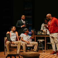 The company of Bread at WaterTower Theatre
