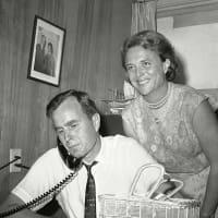 young Barbara Bush and George Bush