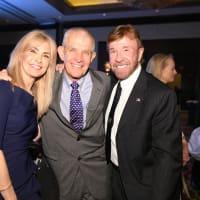 Houston Chuck Norris Kickstart Gena Norris, Jim McIngvale and Cuck Norris