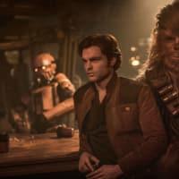 Alden Ehrenreich and Joonas Suotamo in Solo: A Star Wars Story