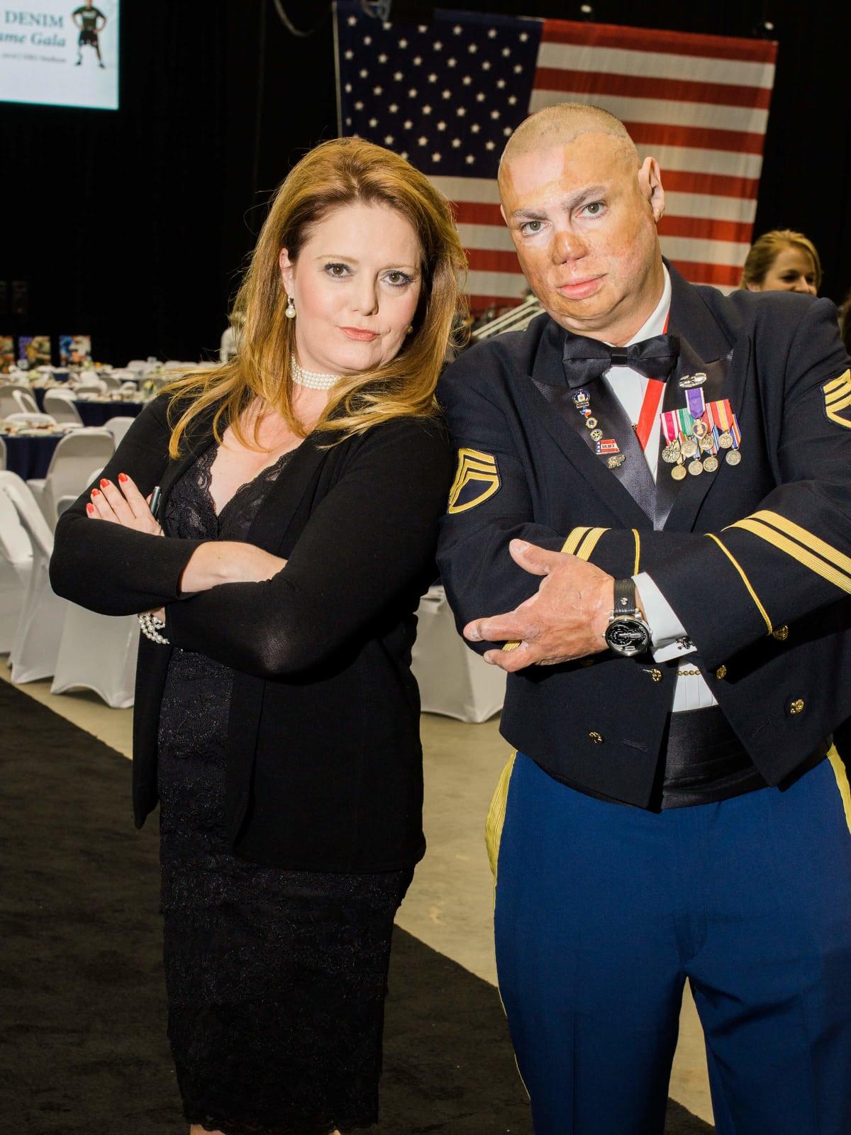 Houston, Impact A Hero Hall of Fame Gala, May 2016, Christine Dobbyn, Army Staff Sergeant, Shilo Harris