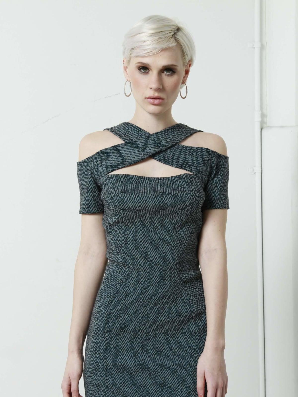 Kevan Hall criss-cross dress