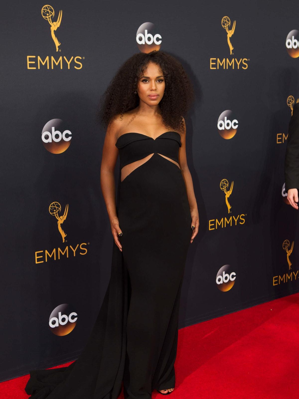 Kerry Washington in Brandon Maxwell at Emmy Awards