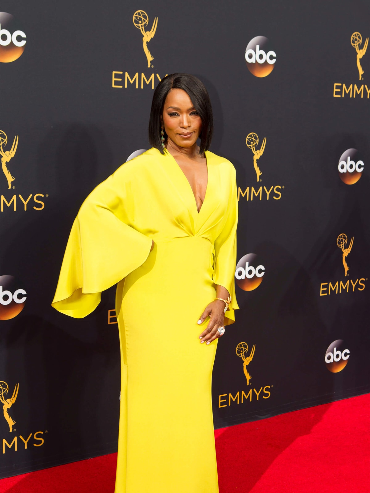 Angela Bassett in Christian Siriano gown at Emmy Awards