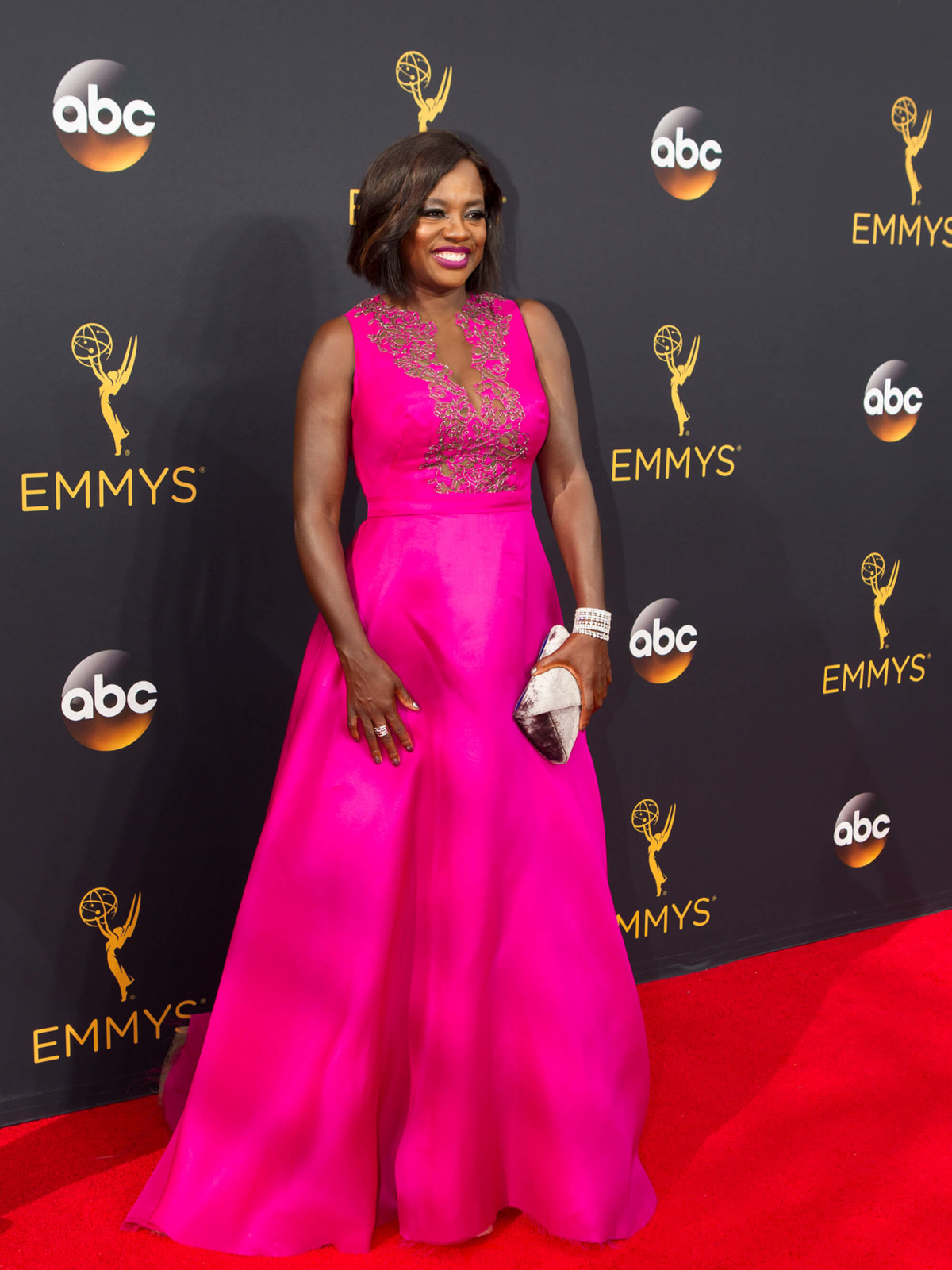 Viola Davis in Marchesa gown at Emmy Awards