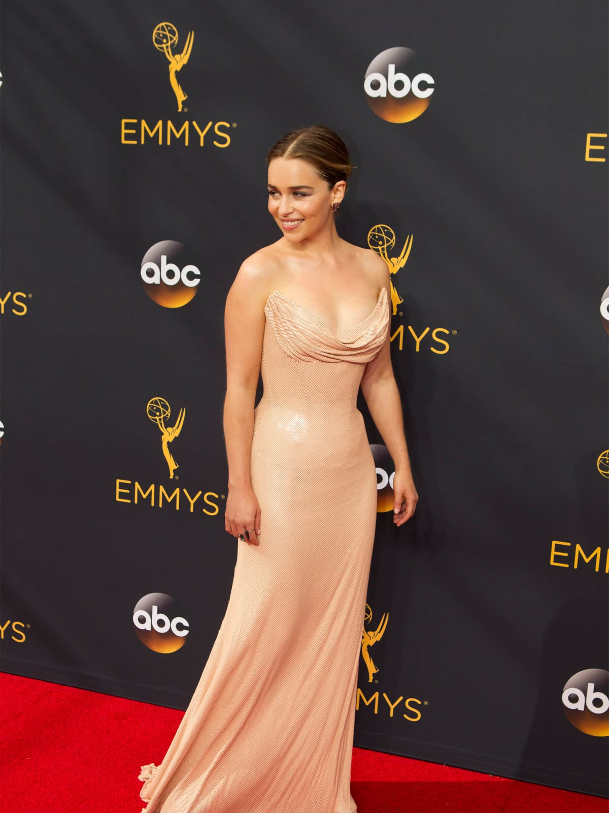 Emilia Clarke in Atelier Versace at the Emmy Awards