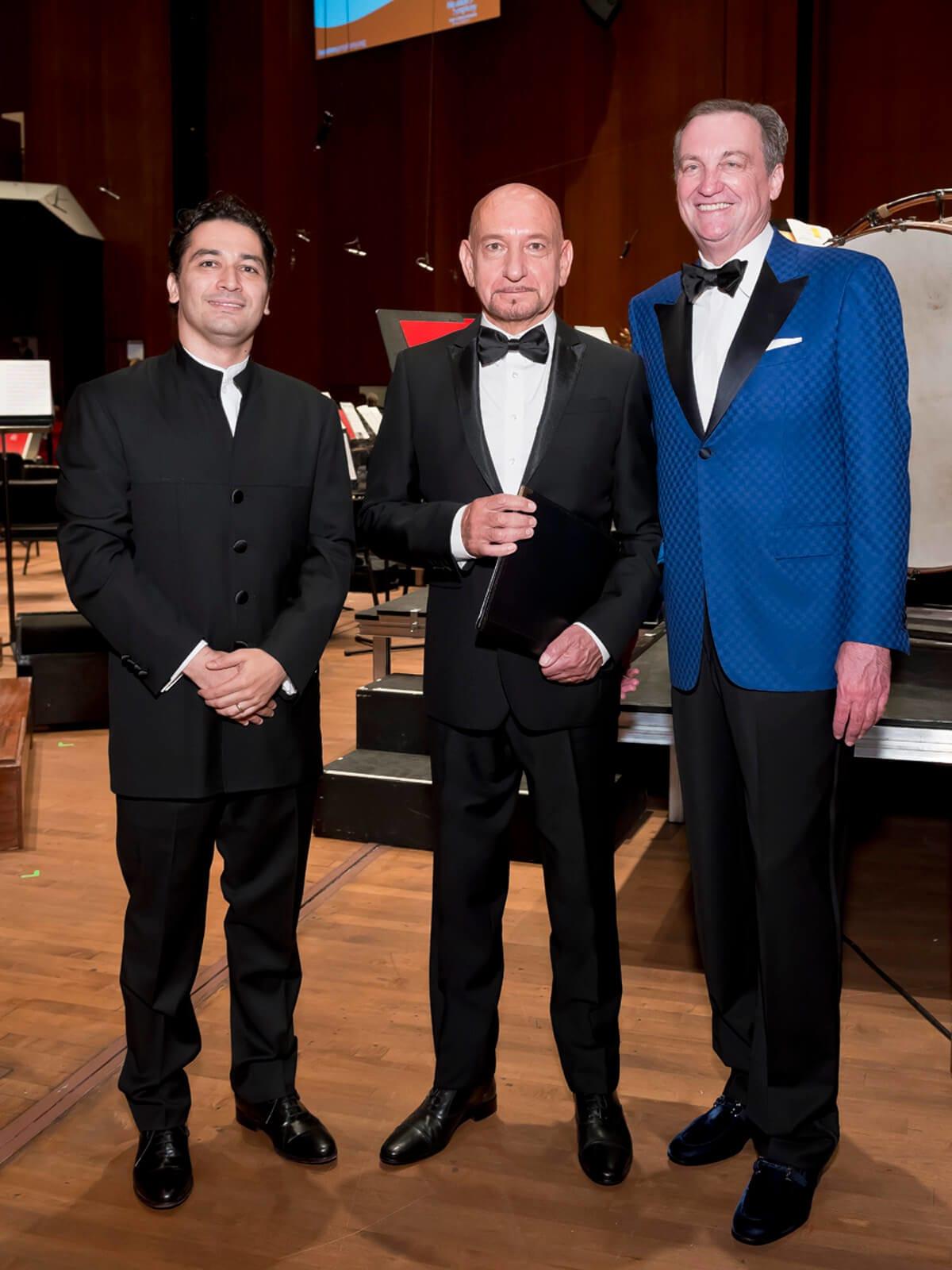 Houston Symphony Opening Night, 9/16, Andres Orozco-Estrada, Sir Ben Kingsley, Ralph Burch