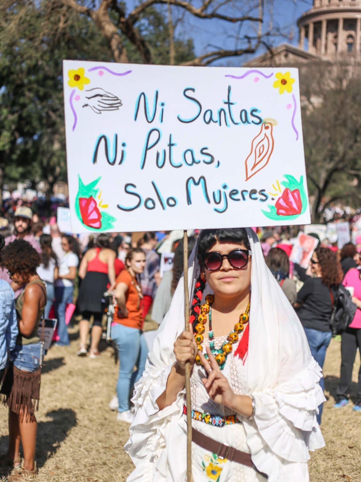Women's March Austin Nia Aguillano