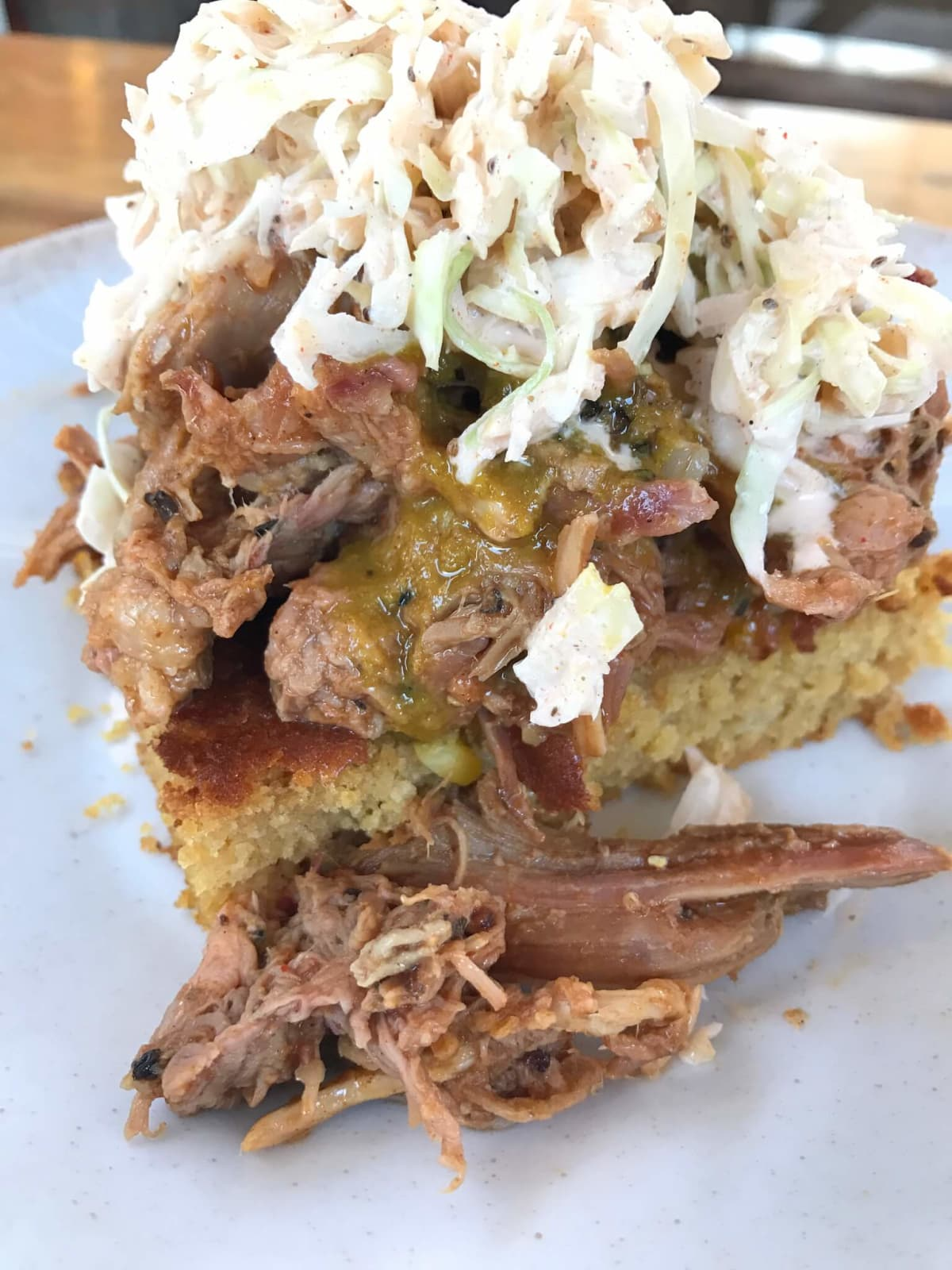 Patrick Feges whole hog barbecue bbq pulled pork cornbread