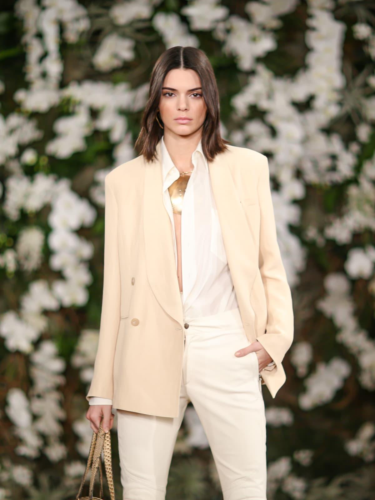 Kendall Jenner in Ralph Lauren fall 2017 runway show
