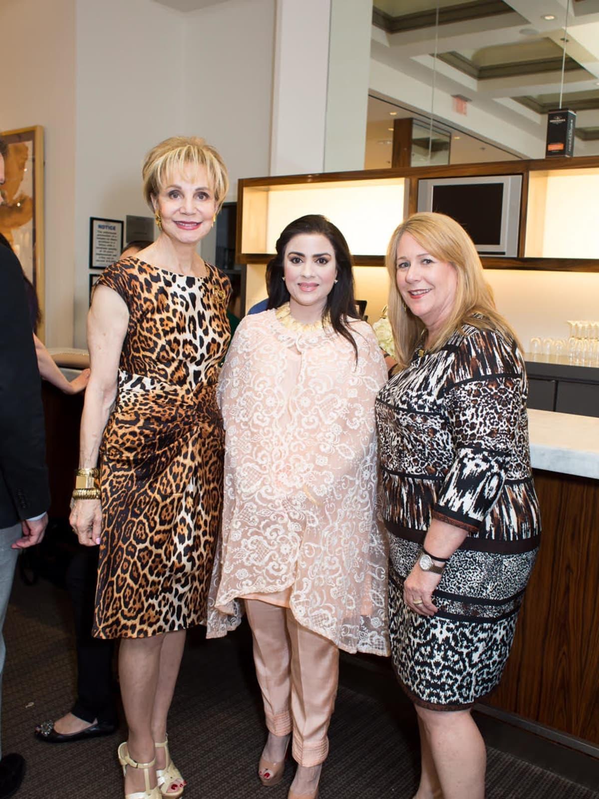 Leisa Holland Nelson, Maha Rasheed Khan, Stacey Swift at International Soiree Kickoff