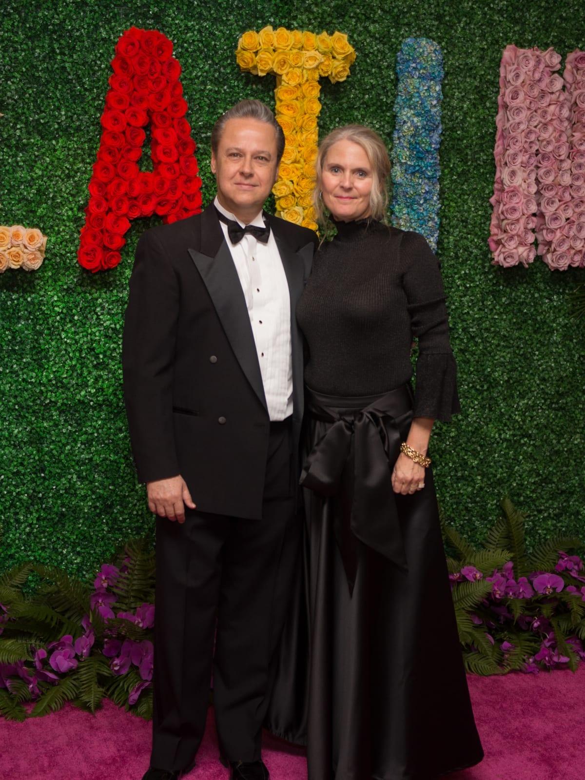 Arturo Barragan, Anne Barragan at Latin American Gala