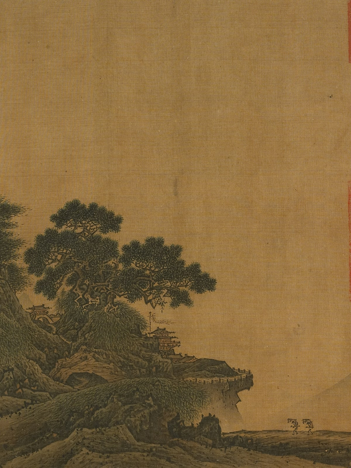 Jia Shigu, Ancient temple in mountain pass, at Museum of Fine Arts