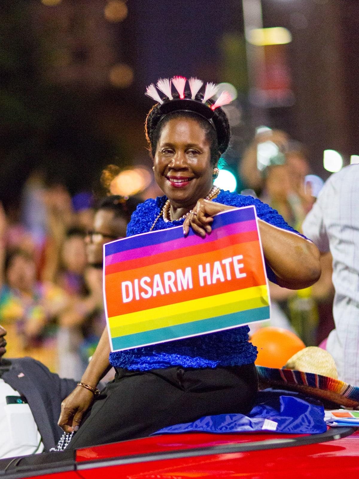 Houston Pride Parade 2016 Sheila Jackson Lee