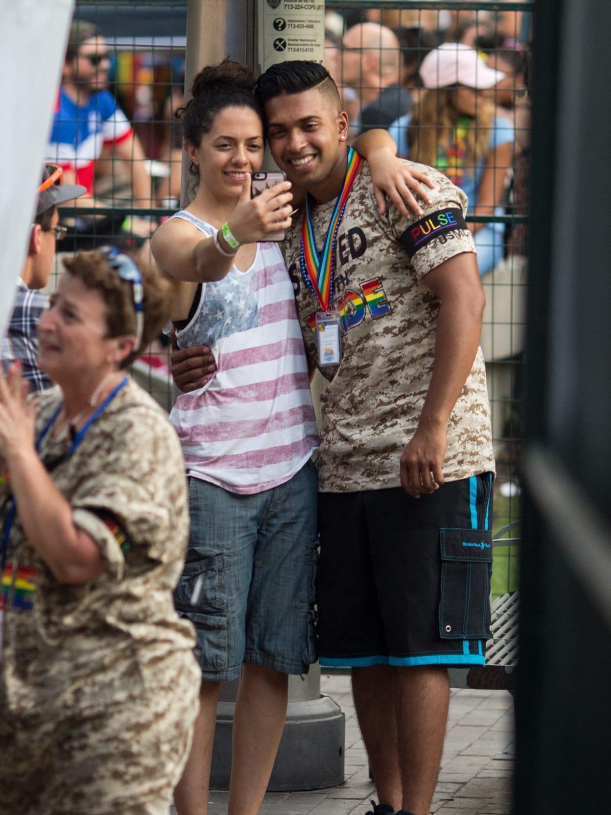 Houston Pride Parade 2016 couple