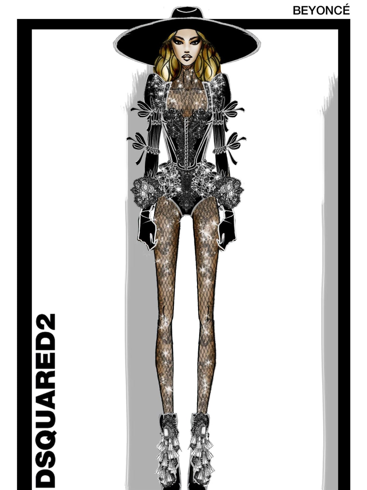 Beyonce DSquared2 look at concert