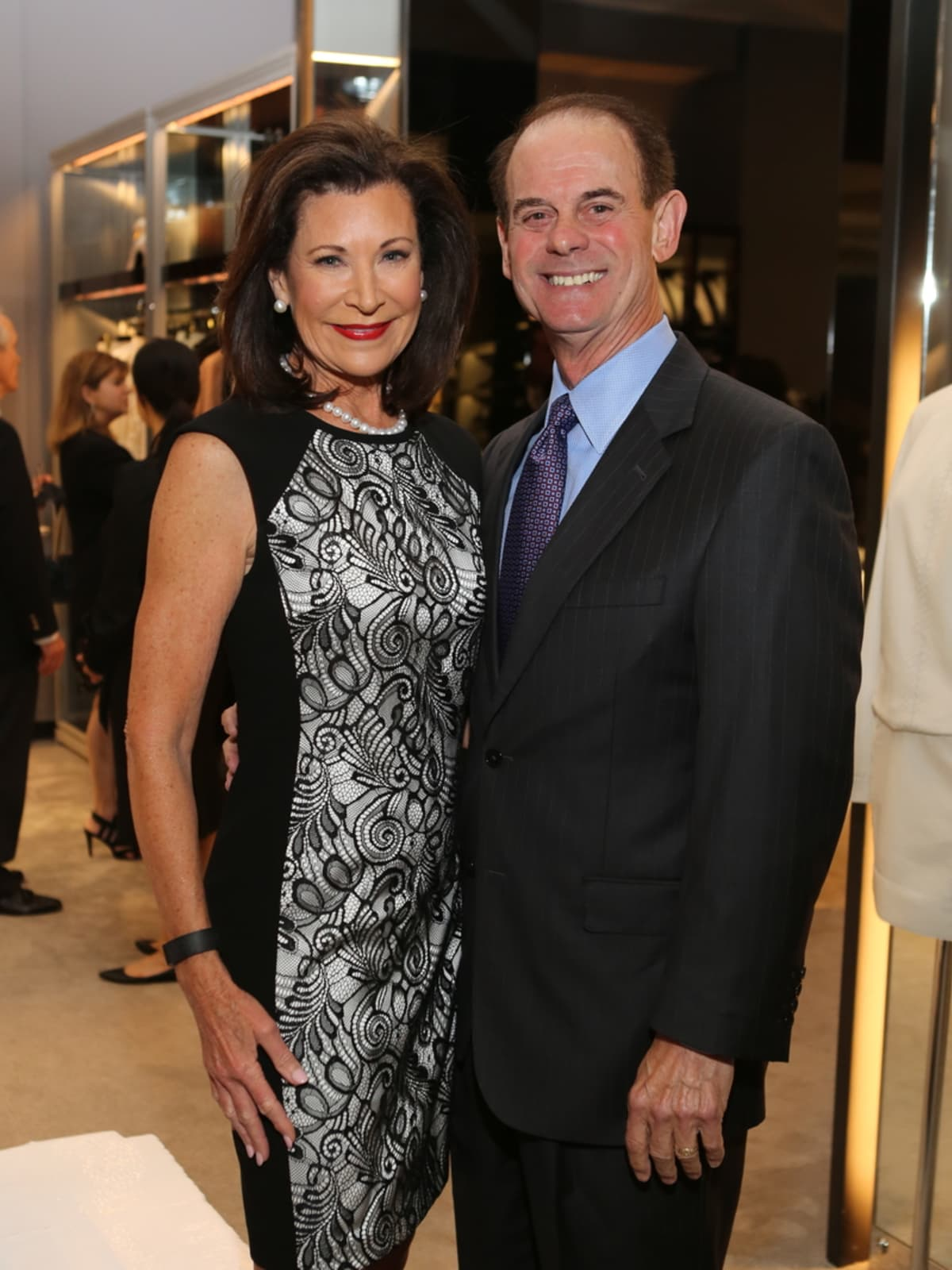 Betty Hrncir, John Hrncir at Blue Cure Party at Tom Ford