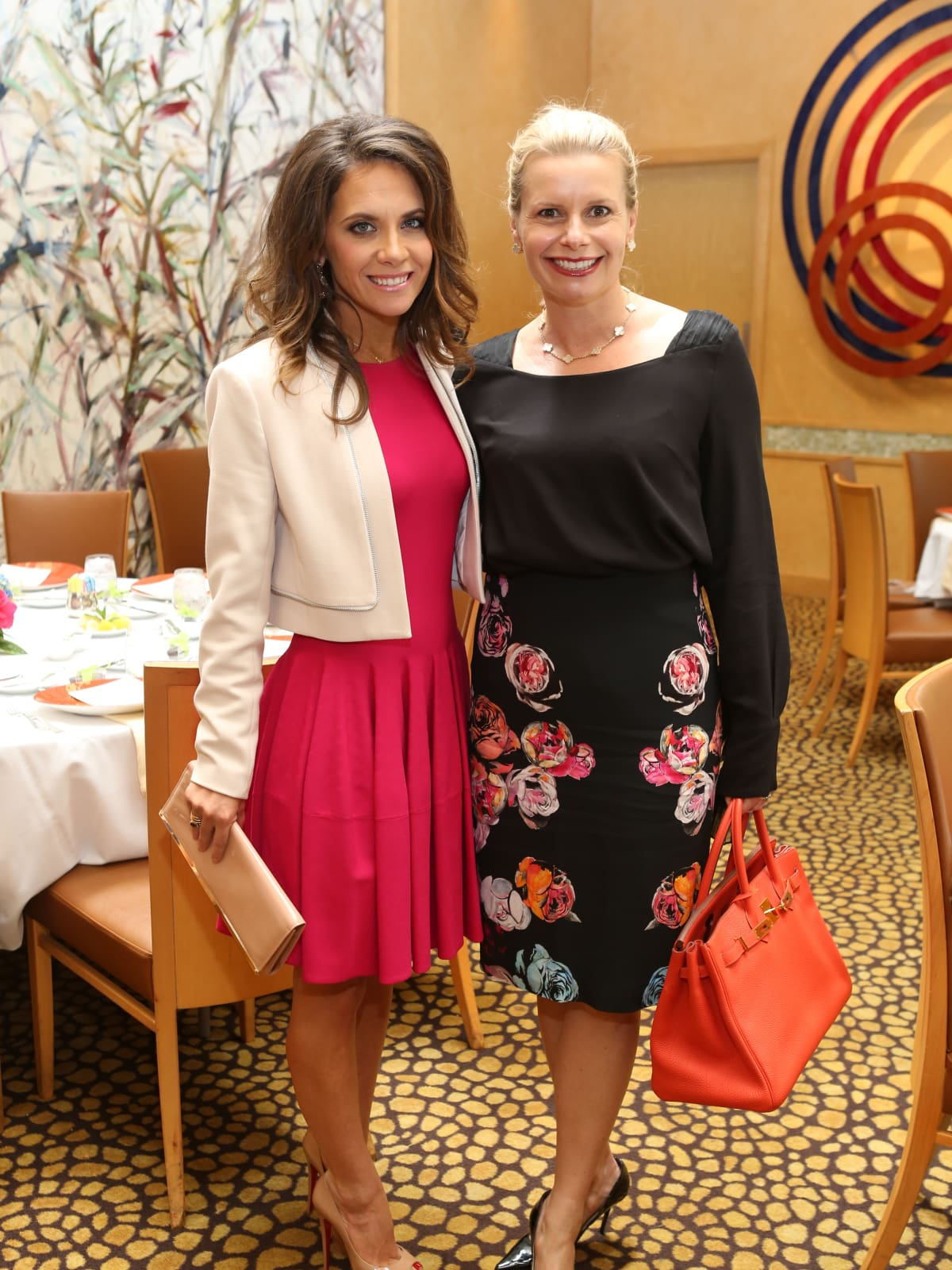 HGO Ball luncheon, March 2016, Joanna Marks, Valerie Dieterich