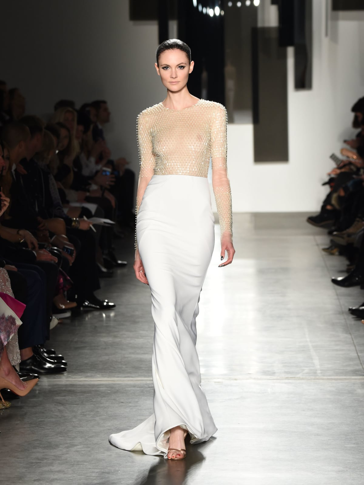 Pamella Roland fall 2016 gown look 20