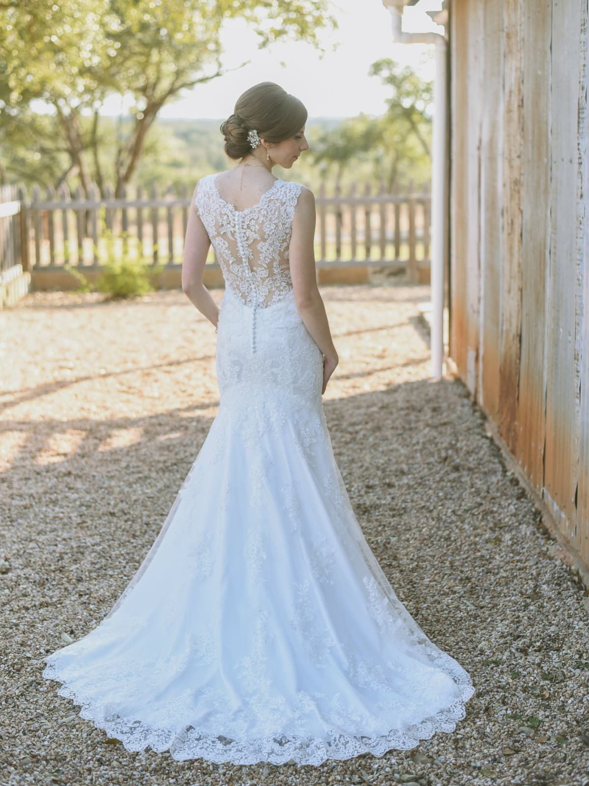 Heritage House wedding back of gown