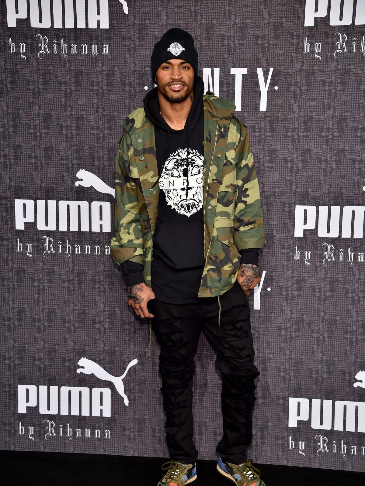 Jaelen Strong at Rihanna Fenty Puma runway show