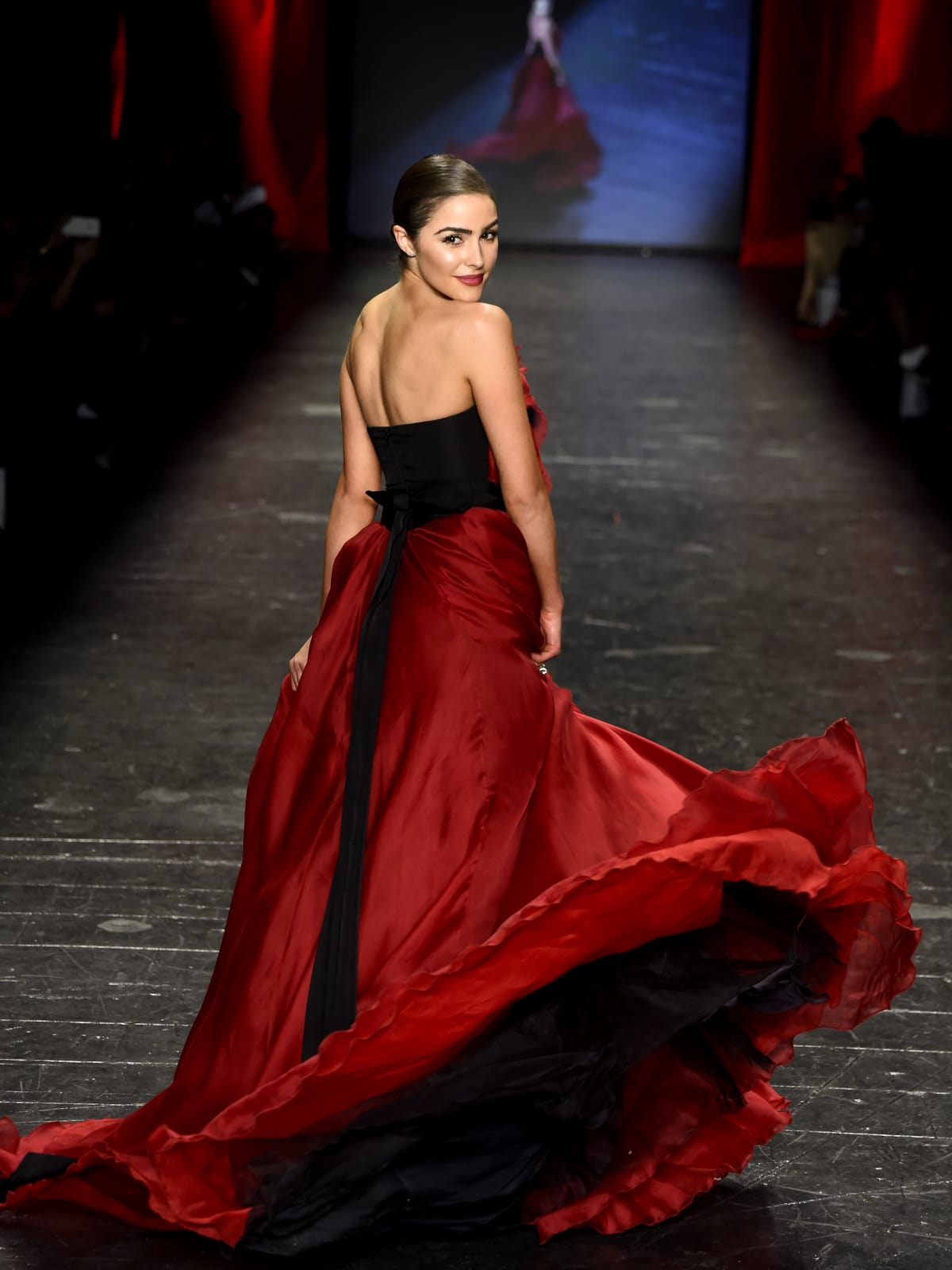 Olivia Culpo at American Heart Association's Go Red For Women Red Dress Collection 2016
