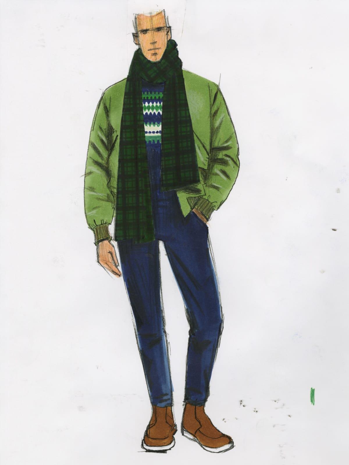J. Crew menswear sketch fall 2016