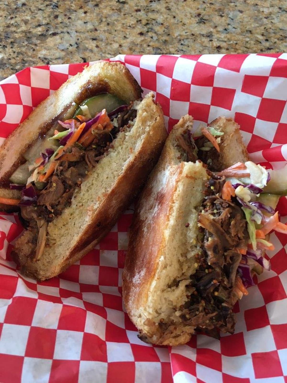 Lucky Fig food truck sandwich