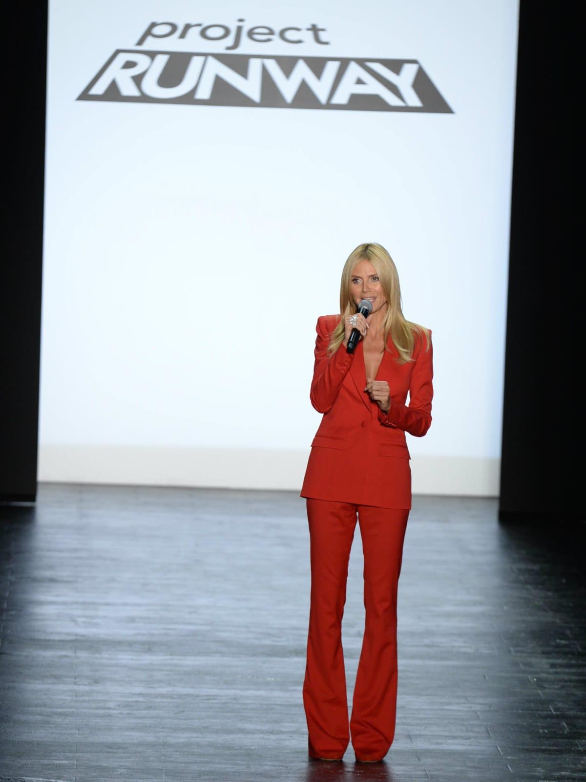 Heidi Klum at Project Runway season finale