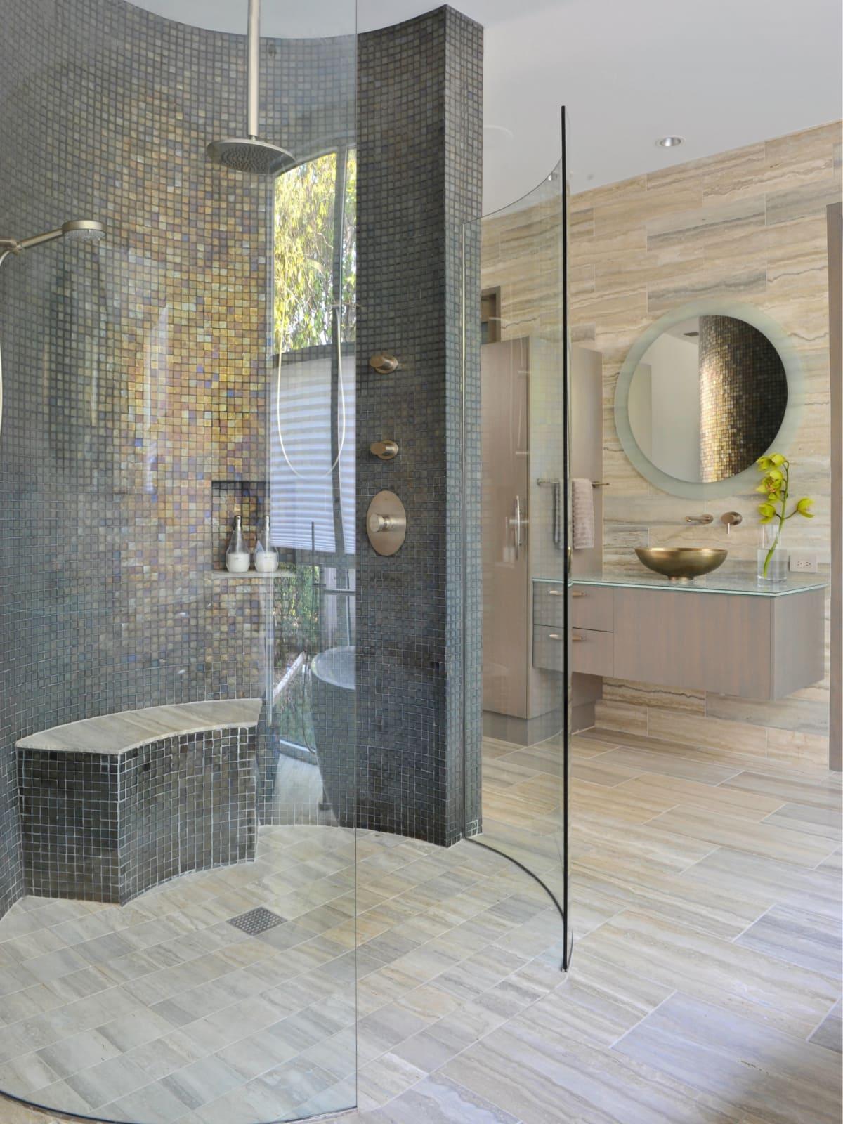Master bath designed by Key Residential in Dallas