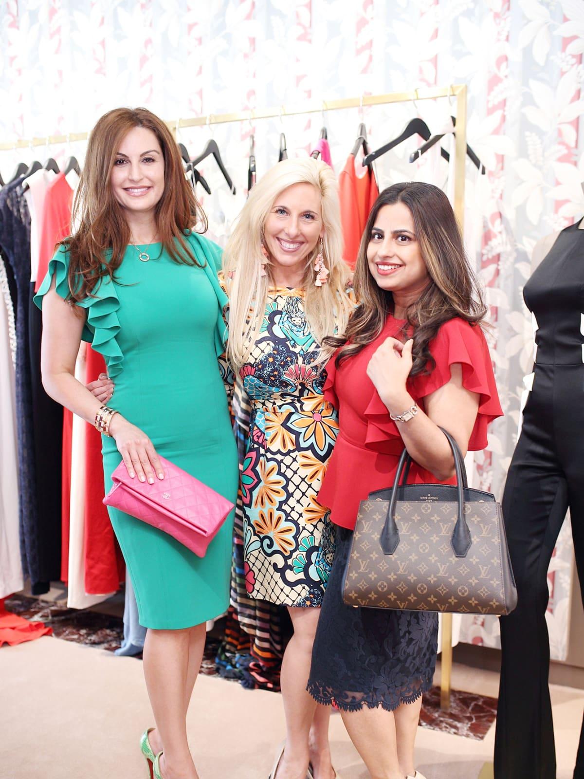 Brigitte Kalai, Tracey Faulkner, Ruchi Mukherjee at The Webster party