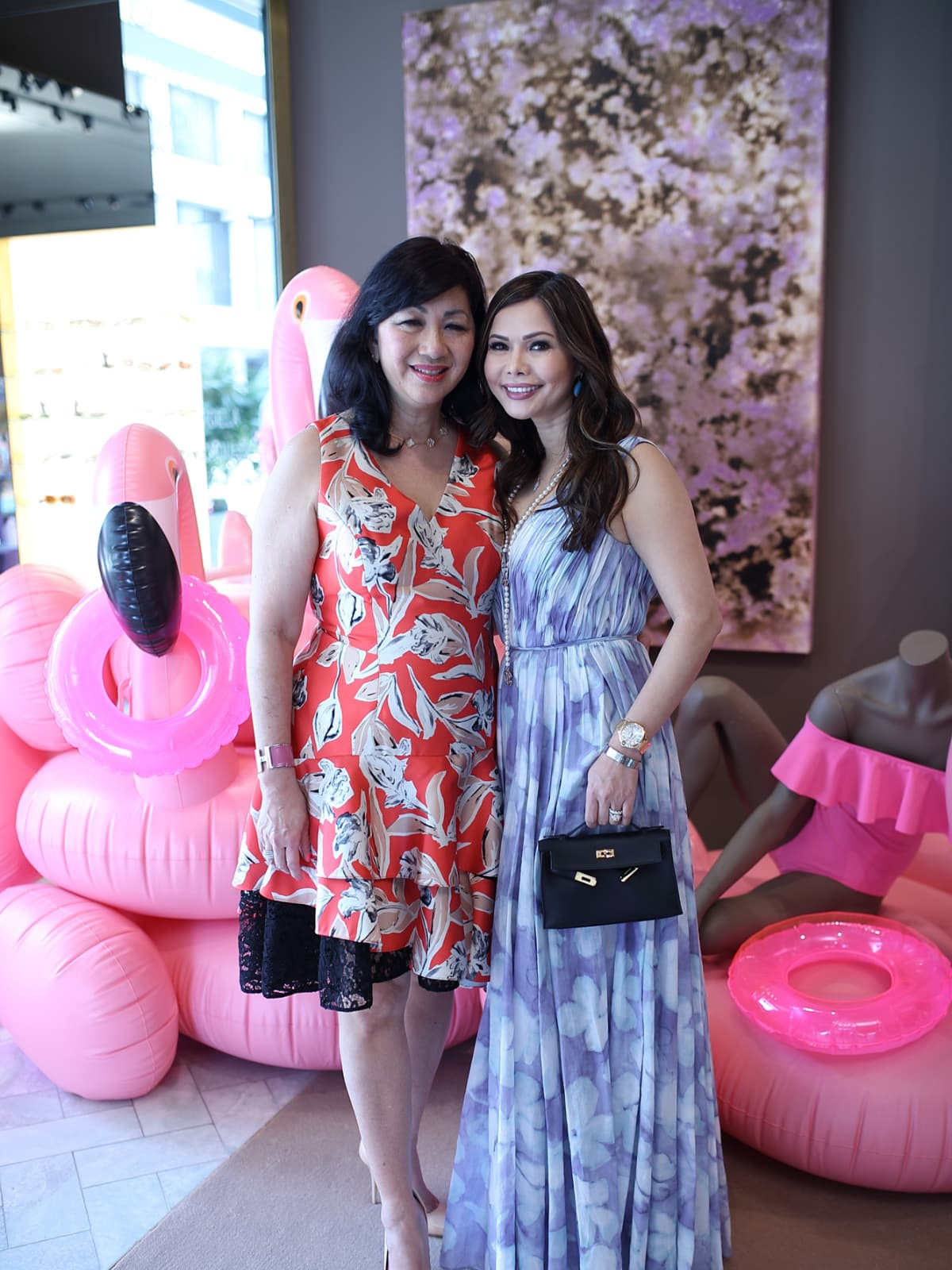 Alice Mao Brams, Amy Cichoso at The Webster party