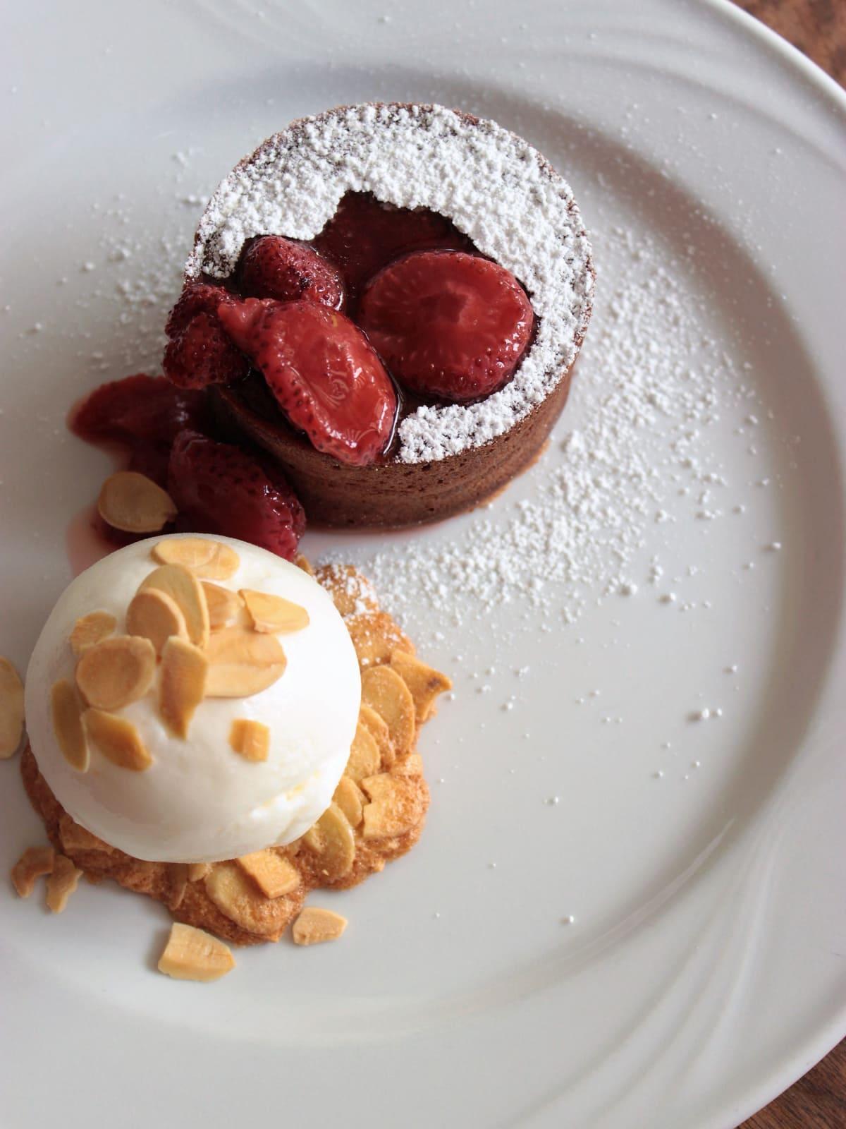 Juliet Italian Kitchen chocolate lava cake