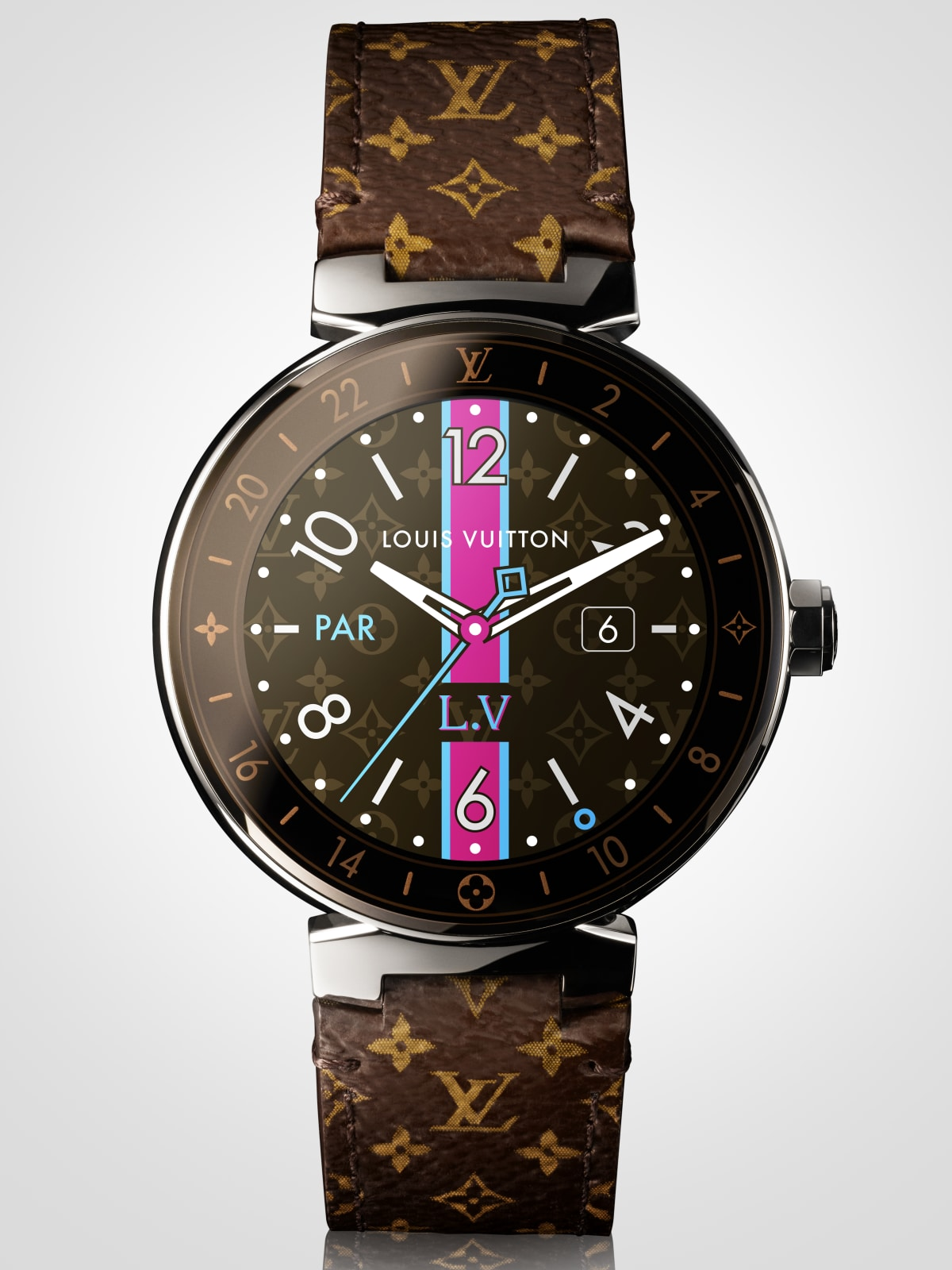Houston, Louis Vuitton new Tambour Horizon watch, July 2017, Tambour Horizon Monogram Watch