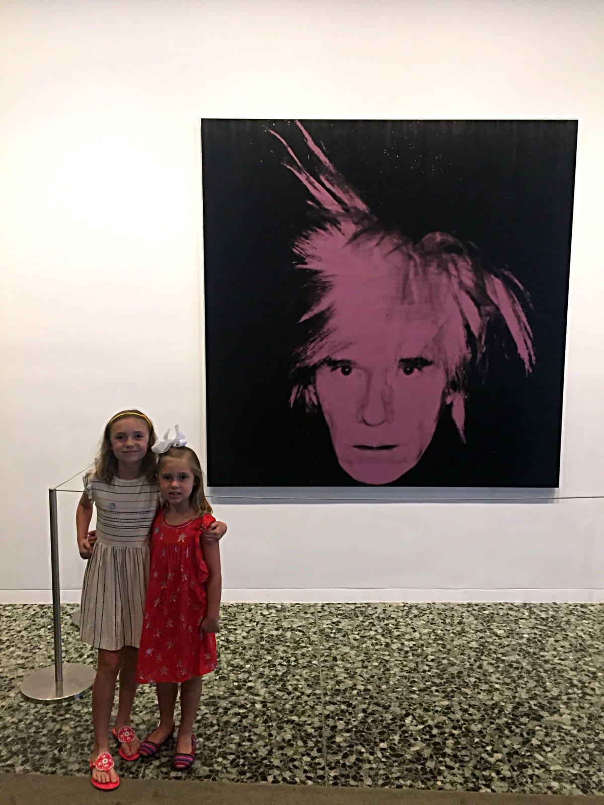Two little girls at Museum of Fine Art Houston