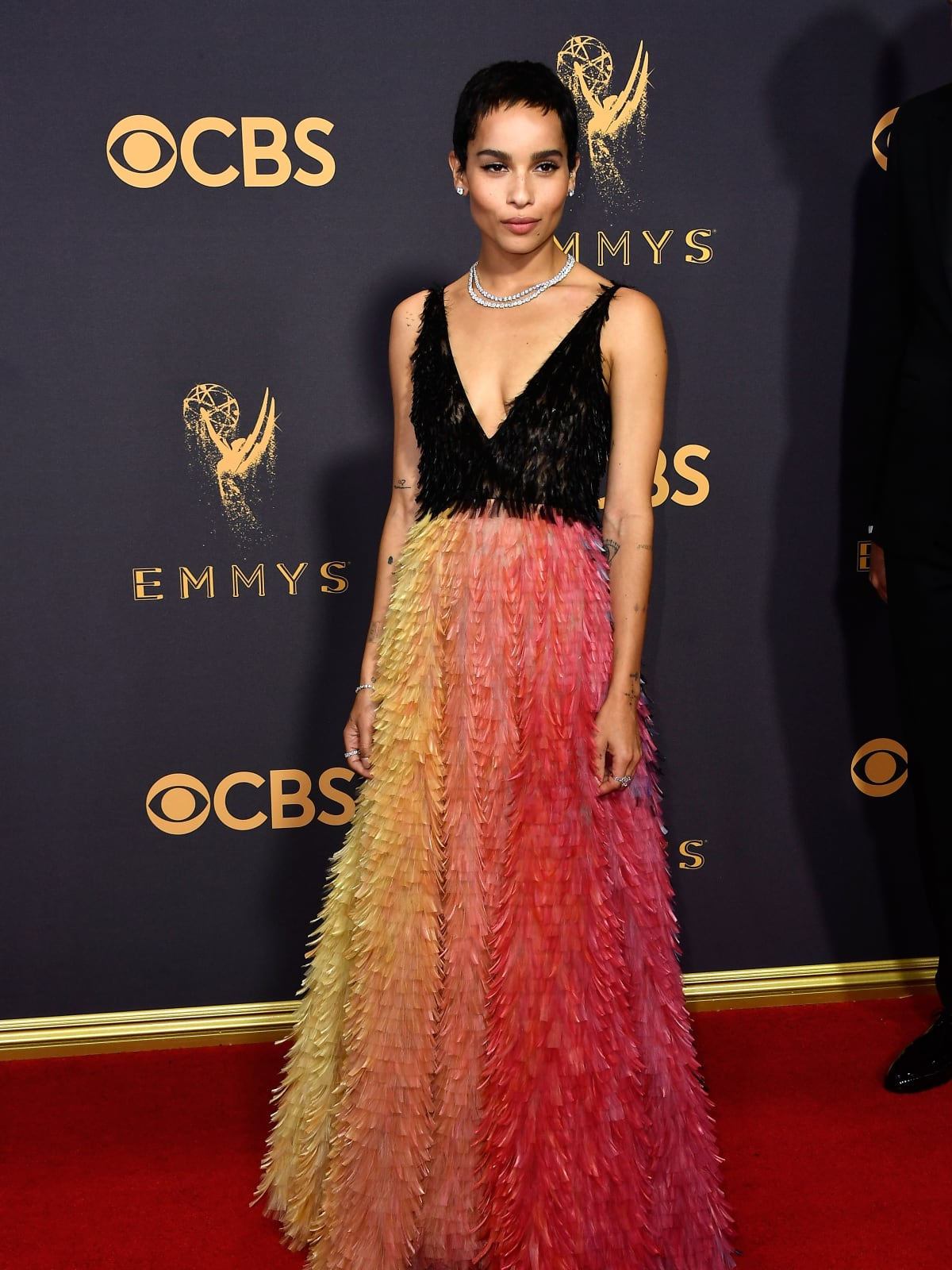 Zoe Kravitz in Dior at Emmy Awards 2017