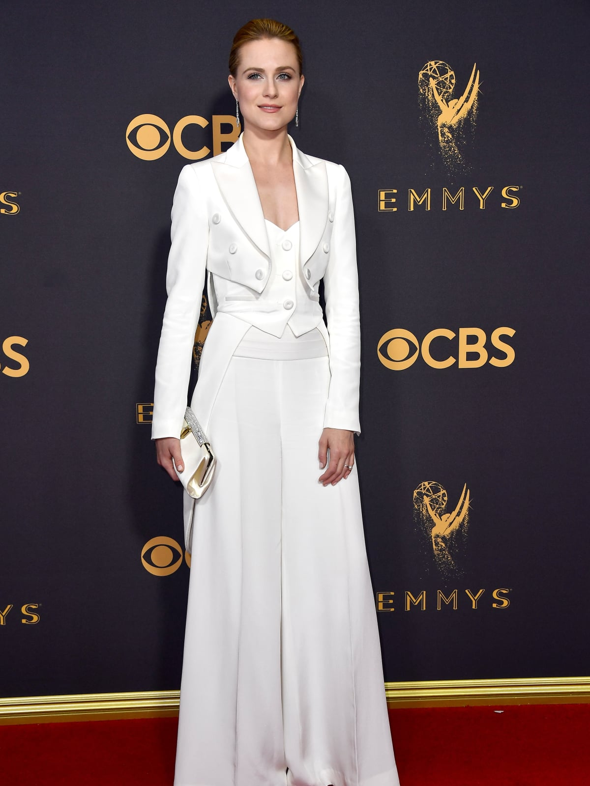 Evan Rachel Wood in Jeremy Scott at Emmy 2017